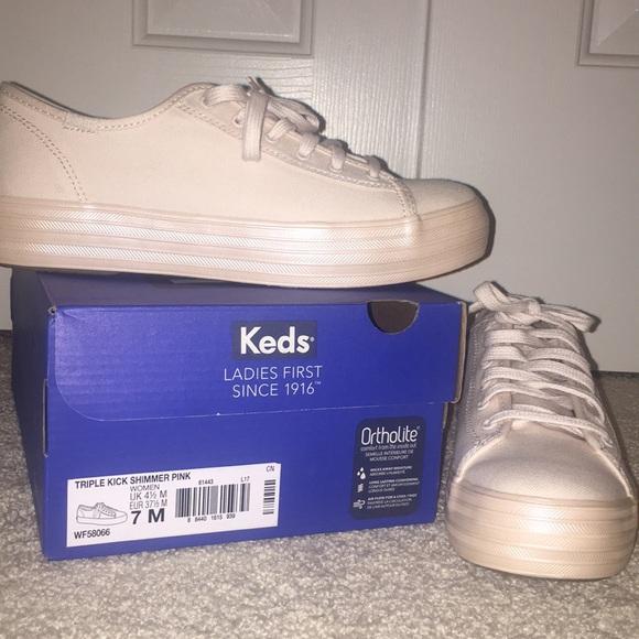 Keds Shoes   Keds Triple Kick Shimmer